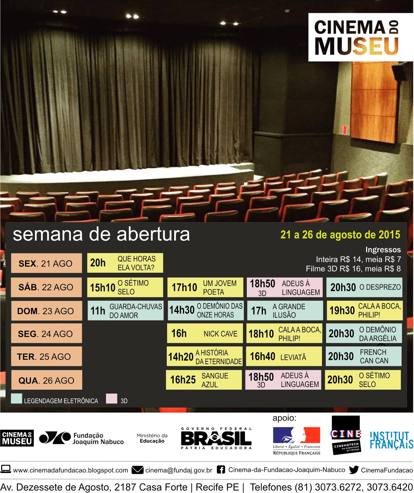 abertura cinema do Museu
