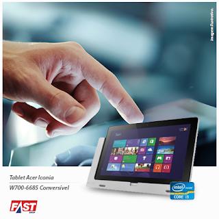 Promoção Tablet Acer Iconia W700-6685