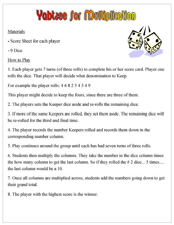 6 dice yahtzee rules and scoring