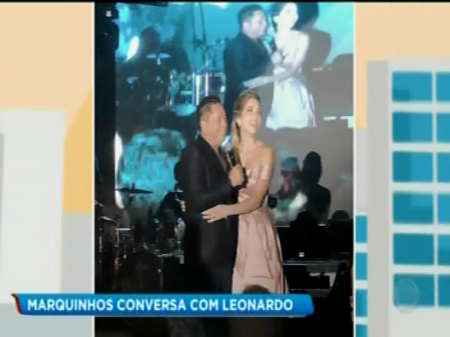 Leonardo na festa de formatura Lyandra Costa, filha de Leandro 15 11 2018