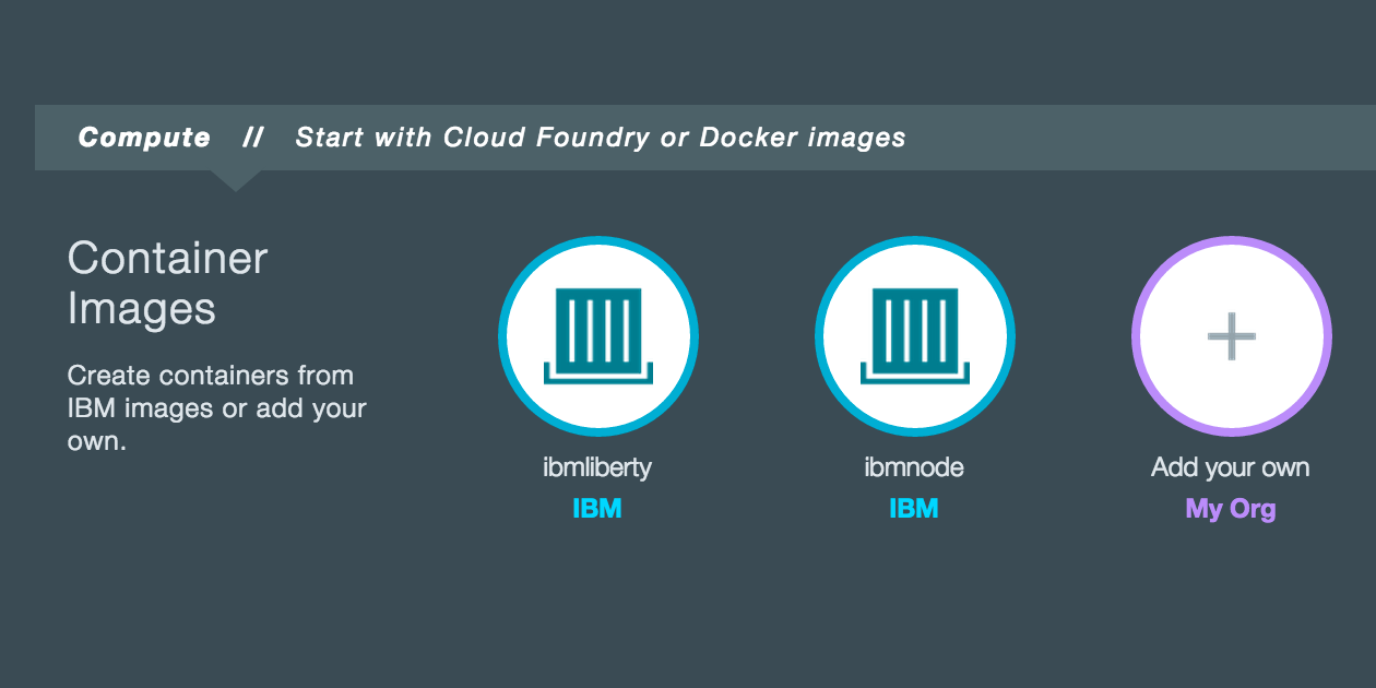 Bluemix Updates: IBM Containers in Catalog