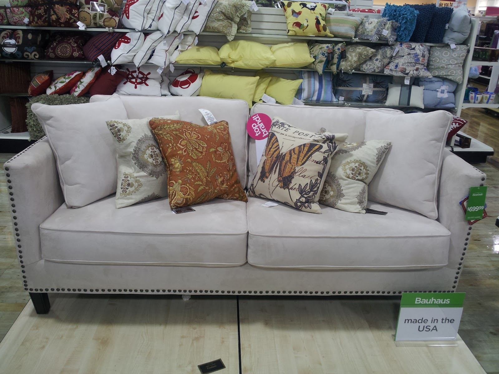 Pink chandelier homegoods happiness part two for Studded sofa sets