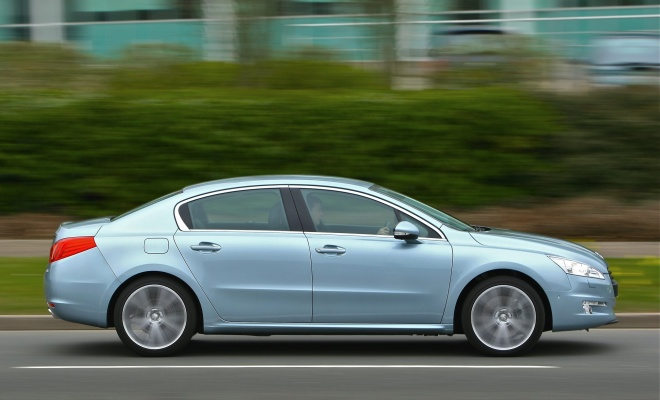 Peugeot 508 from the side