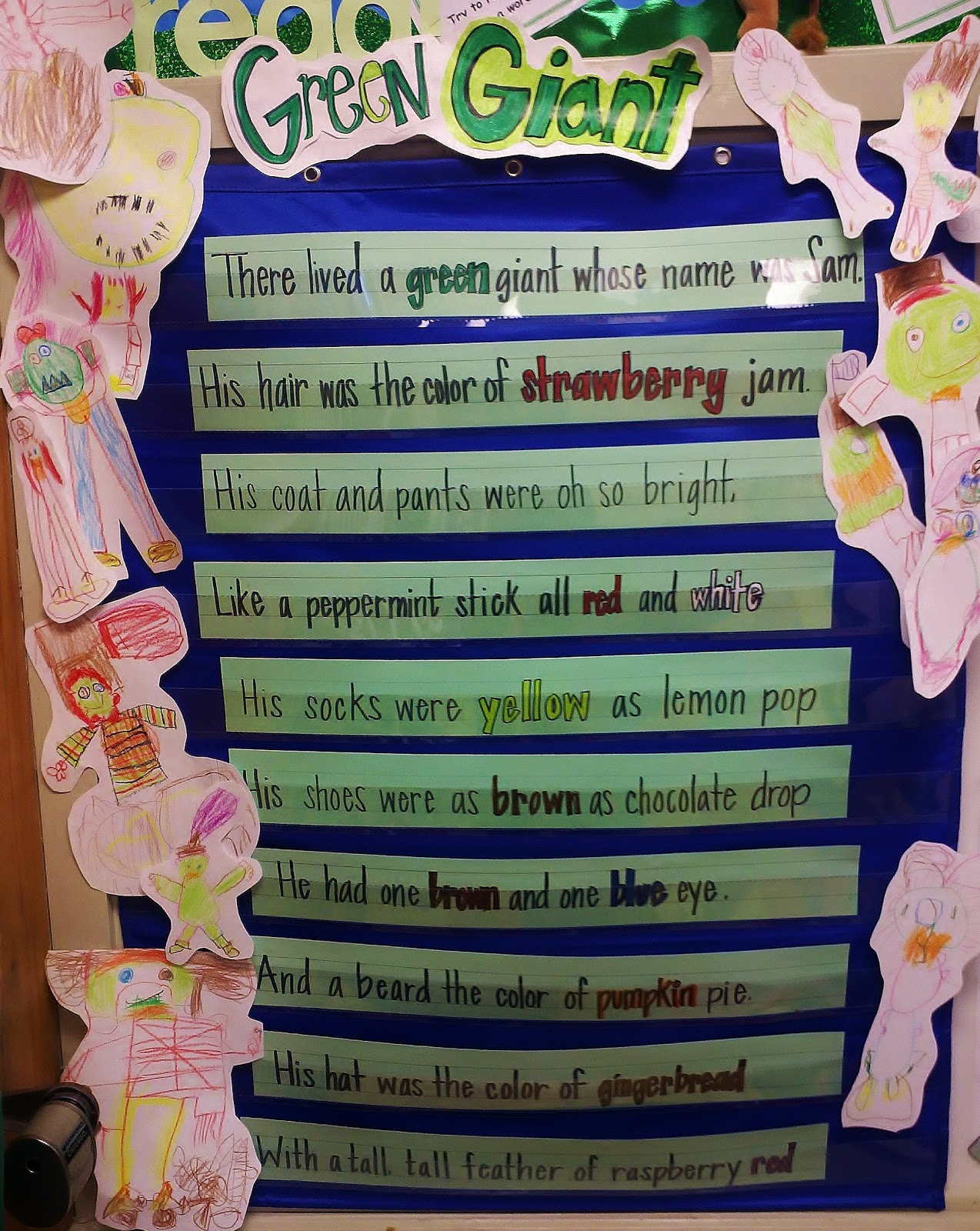 During The Lesson Miss M Read Poem Several Times As Class Closed Their Eyes And Visualized A Green Giant Using Descriptive Clues