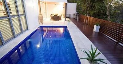 desain terbaru kolam renang untuk rumah minimalis - gambar