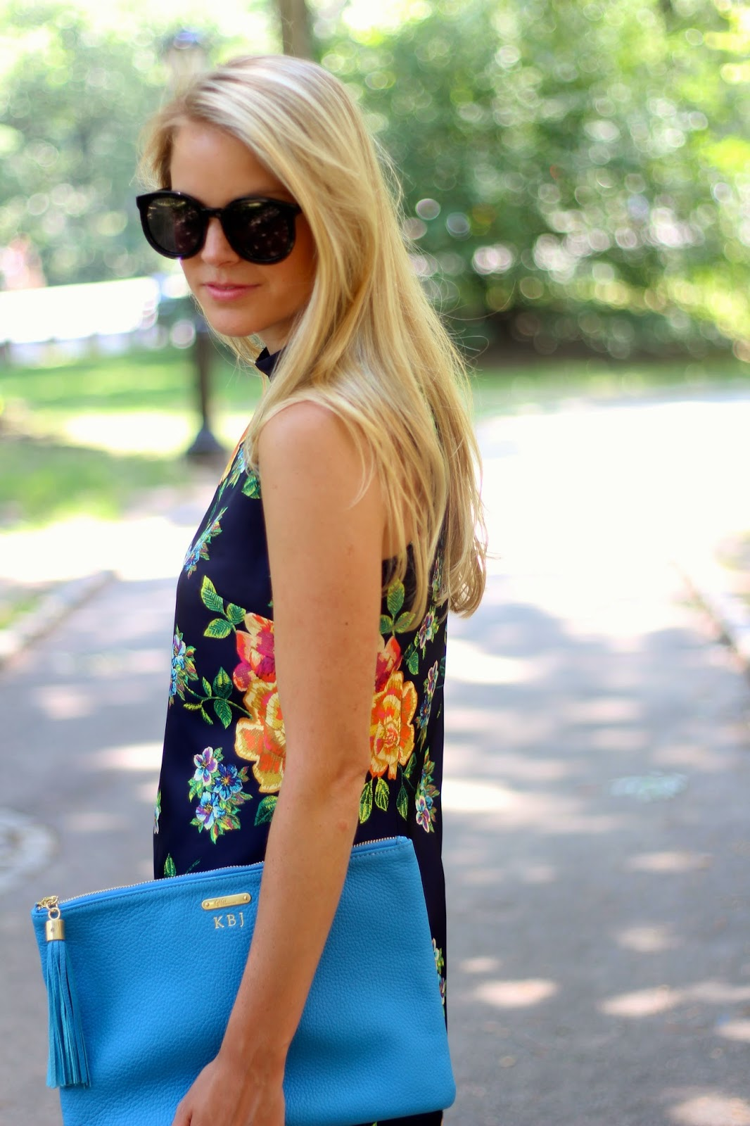 cynthia steffe kenna dress, cynthia steffe, floral dress, karen walker super duper, gigi new york clutch