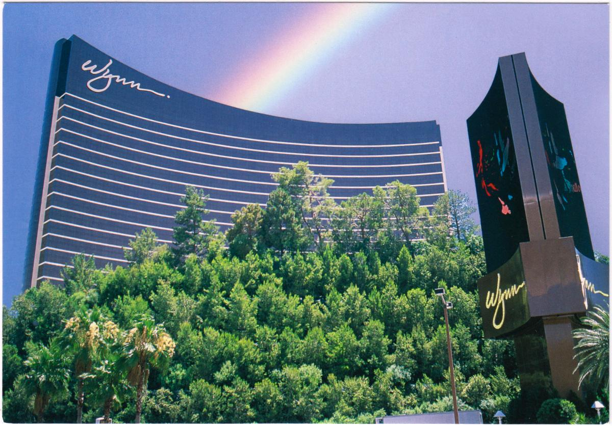 One Postcard a Day: Over the Rainbow in Las Vegas