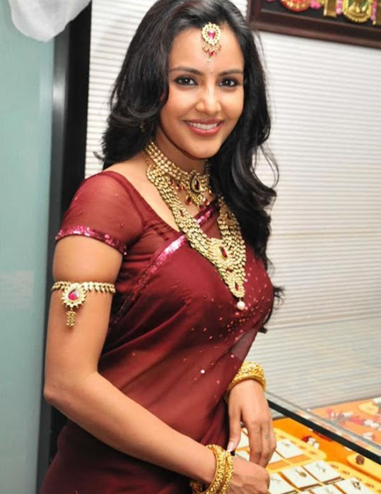 priya anand in saree at nac ewellers for 1000 diamond necklaces festival event-