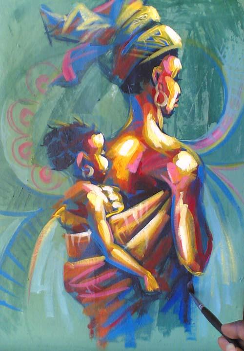 Nigeria artist nigeria artist ayeola ayodeji for Artistic mural works