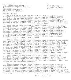 """Save lives..."" 1991 Letter"