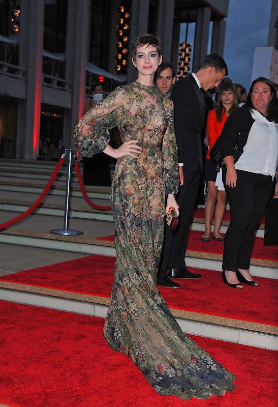 Anne Hathaway at New York City Ballet Fall Gala 2012 red carpet