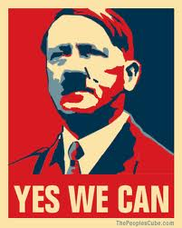 Obama poster with Hitler:  Yes We Can Hope Truth