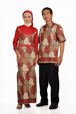 Gamis batik sarimbit 030 couple