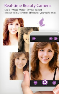 Screenshots of the Youcam Perfect for Android tablet, mobile phone.