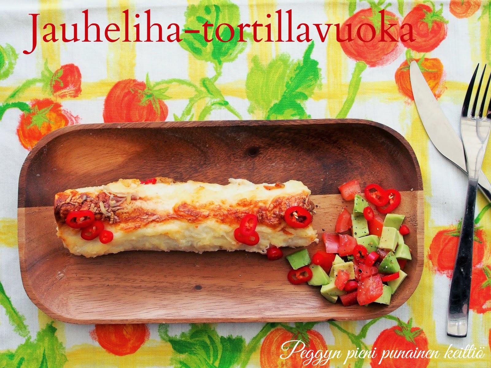 Jauheliha tortillavuoka  Peggyn pieni punainen keittiö