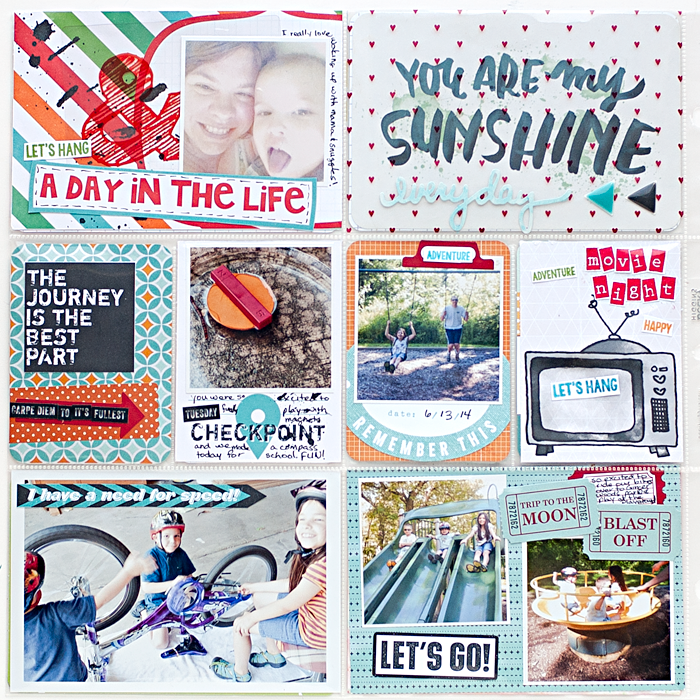 Heather Greenwood | June 2014 - PL Week 24 in my weekly pocket scrapbook album