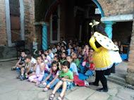 As crianças adoraram a Joaninha