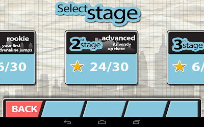 Stickman Base Jumper: Select the stages