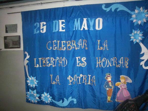 Acto 25 de mayo Palabras alusivas de la docente Sra. Elba Muñoz.
