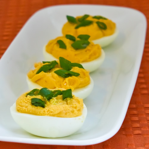 Sriracha Deviled Eggs