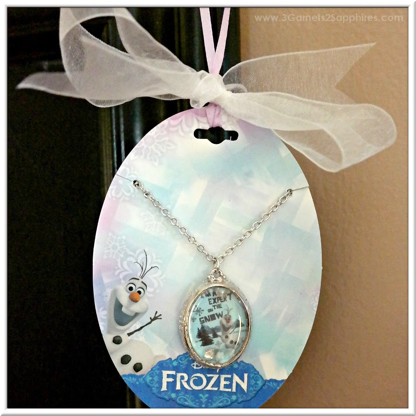 "Disney's Frozen Olaf ""An Expert On The Snow"" Pendant Necklace from Kohl's #FrozenFriday #MC"