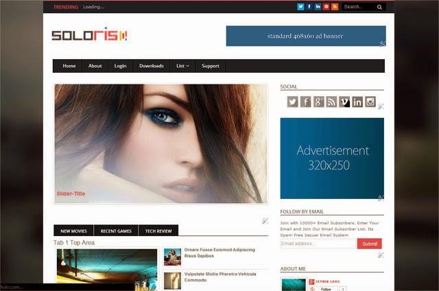 Chia sẻ Soloris Responsive Blogger Template