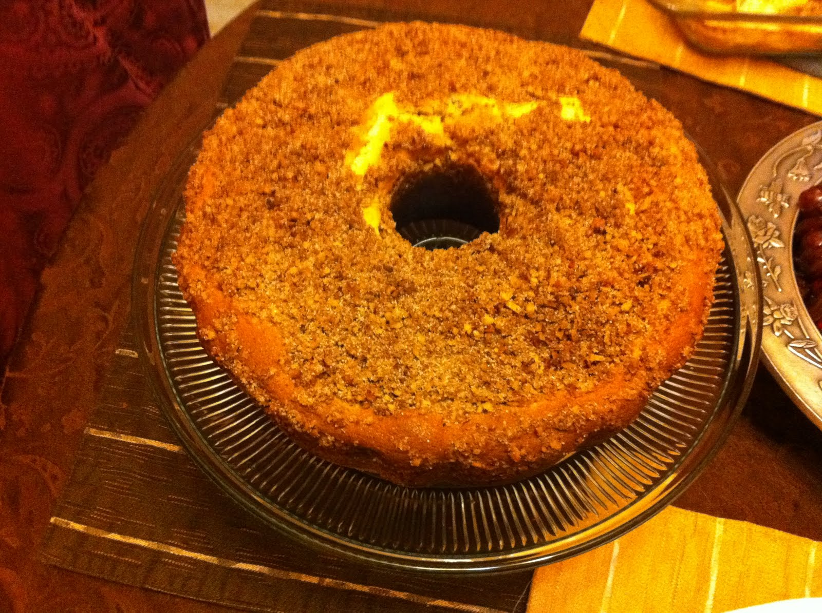 Americas Test Kitchens Sour Cream Coffee Cake with Brown Sugar