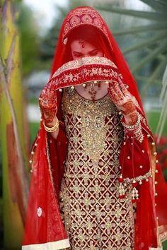 Awsome Bridal Red Dress Hide Face Dp 2016