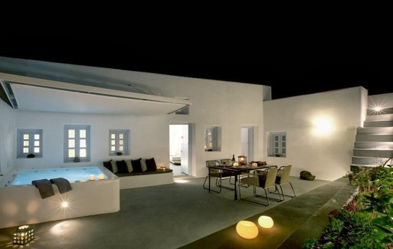 casa en santorini con piscina en la terraza