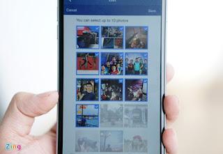 Người dùng chỉ được chọn tối đa 10 ảnh và không được xáo trộn thứ tự.