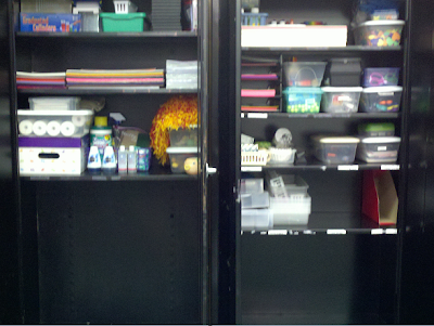 Fern Smith's Classroom Ideas How To Organize Your Supply Cabinet When Someone Leaves You a lot of Junk and in Less Than Two Hours!