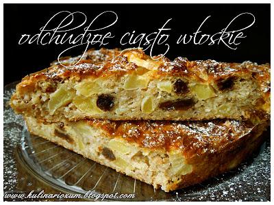 odchudzone ciasto, odchudzony jabłecznik włoski, ciasto light, ciasto dukan, lekkie ciasto, jabłecznik, kulinariozum