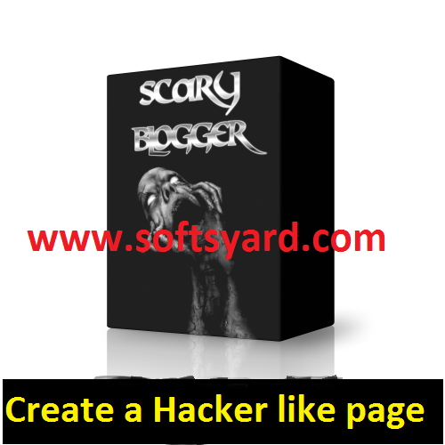 Scary Hacker Blogger Template