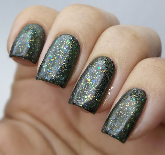 China Glaze Sunshine over black