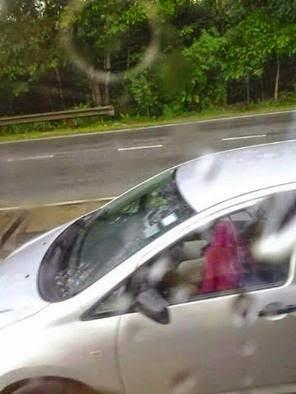 Aktiviti Mencurigakan Dalam Kereta Waktu Hujan Di RNR Berjaya Dirakam