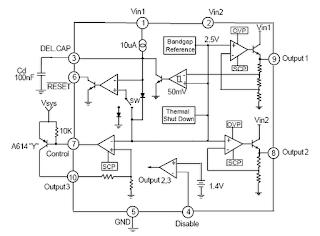 gambar rangkaian ic KA7632