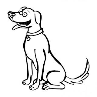 Immagini di cani da colorare for Cane disegno da colorare