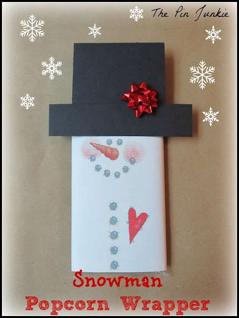 Snowman Printable Popcorn Wrapper