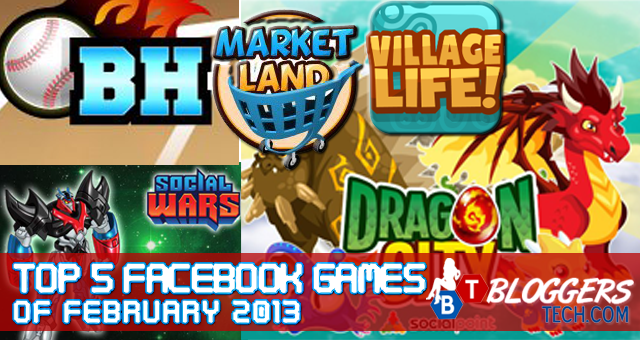 Top 5 facebook games of february 2013 publicscrutiny Images