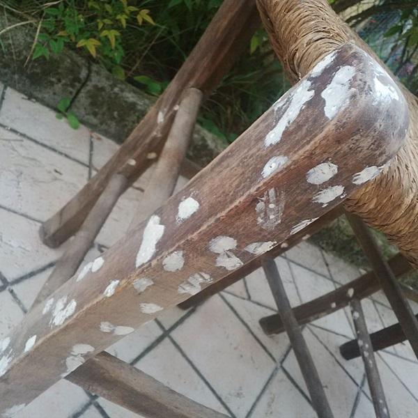 sedie da osteria stuccatura tarli