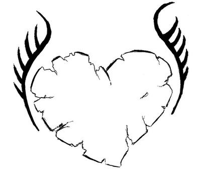 desenhos para colorir corações / coração