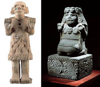 dos coatlicue de Mesoamérica
