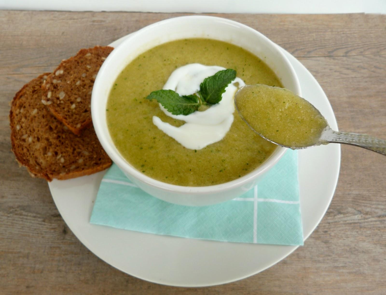 Vanilla & Spice: Cold Cantaloupe-Mint Soup
