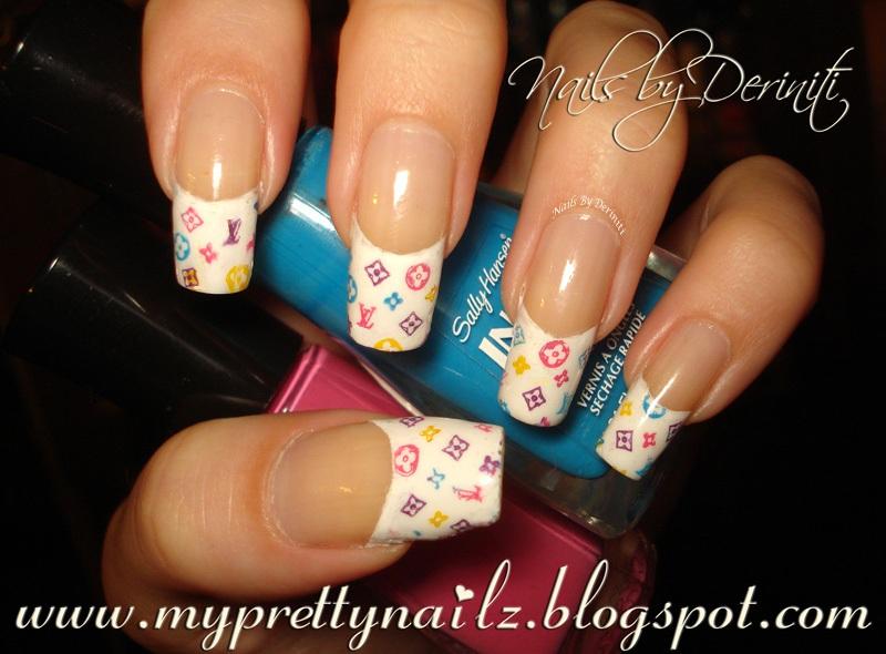 My Pretty Nailz: Louis Vuitton French Tips Nail Art Design & Video ...