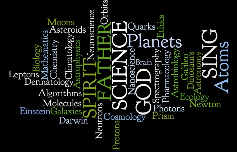 Sing of God and Science - 'Wordle' Icon