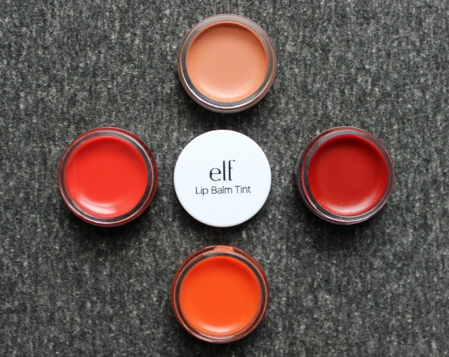 e.l.f. Essential Lip Balm Tints in Peach, Grapefruit, Berry and Nude