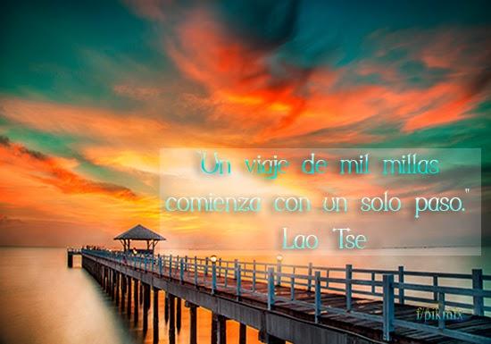 Frases- Un viaje - Lao Tse, Paisaje, serenidad,