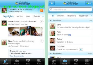 Windows Live Messenger for iPhone Interface: More than Chat