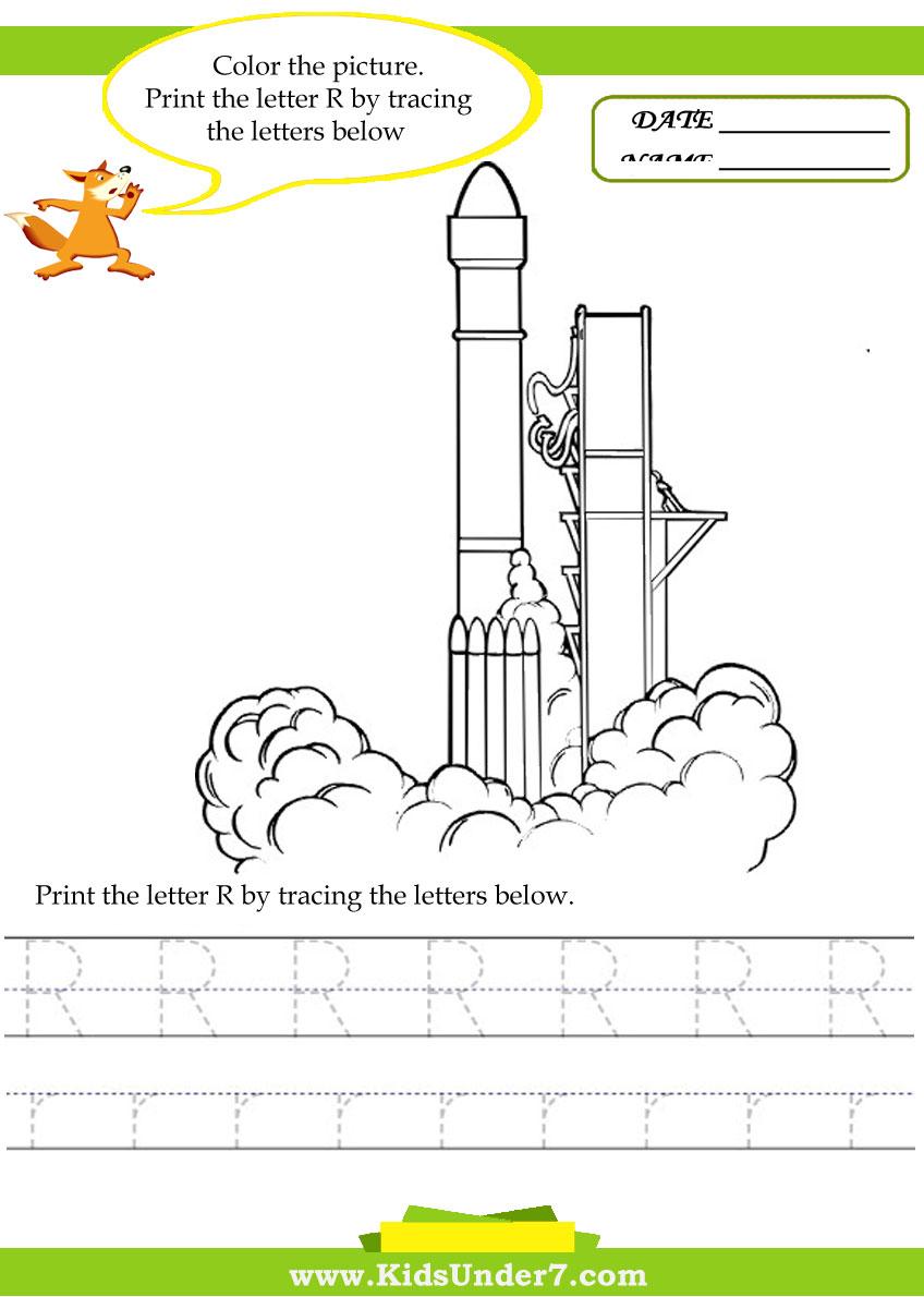 Free Worksheet Letter R Worksheets kids under 7 alphabet worksheets trace and print letter r r