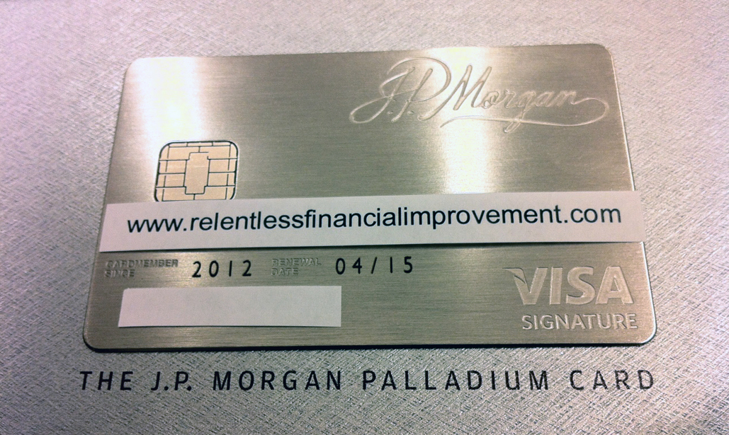 Relentless Financial Improvement: JP Morgan Palladium card: changes ...